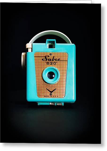 620 Greeting Cards - Vintage Sabre 620 Camera Greeting Card by Jon Woodhams