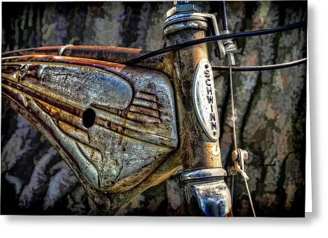 Vintage Bicycle Greeting Cards - Vintage Schwinn Greeting Card by Ken Smith