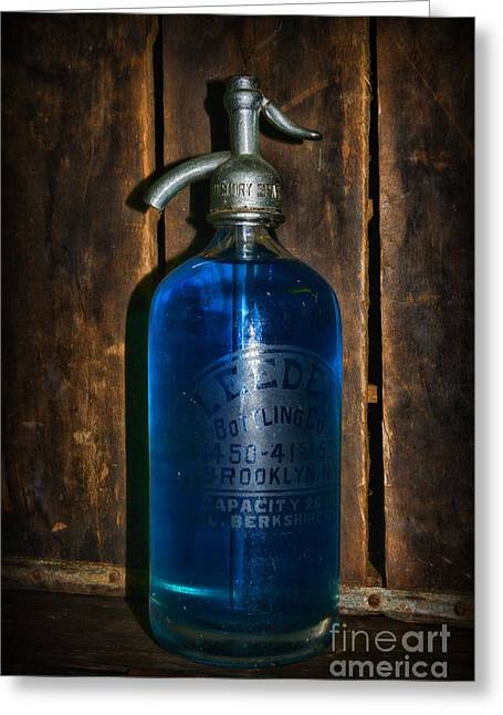 Vintage Seltzer Bottle  Greeting Card by Paul Ward