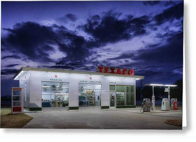 Service Station Greeting Cards - Vintage Service Station in Arkansas Greeting Card by Mountain Dreams