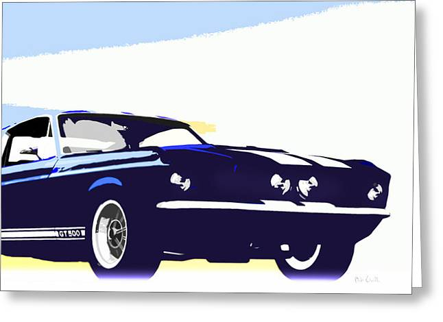 Carol Shelby Greeting Cards - Vintage Shelby GT500 Greeting Card by Bob Orsillo