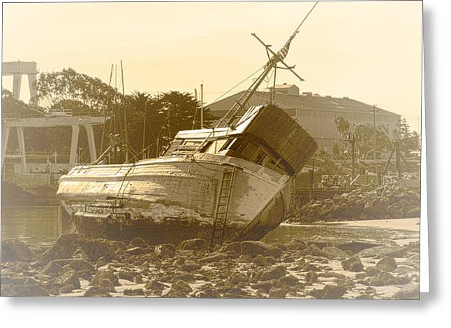 Vintage Shipwreck  Greeting Card by Artist and Photographer Laura Wrede