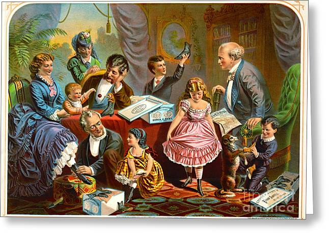 Vintage Shoe Ad 1874 Greeting Card by Padre Art
