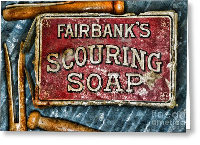 Vintage Soap Greeting Card by Paul Ward