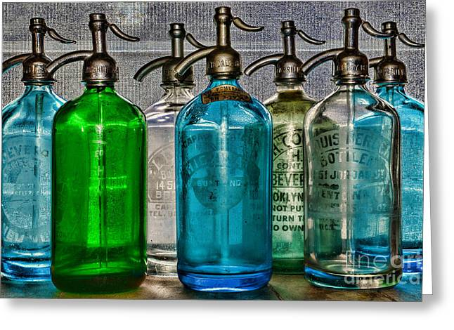 Fine Bottle Greeting Cards - Vintage Soda Bottles Greeting Card by Paul Ward