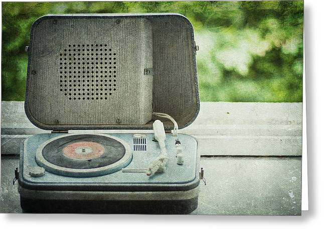1950s Music Photographs Greeting Cards - Vintage Sounds Greeting Card by Nomad Art And  Design