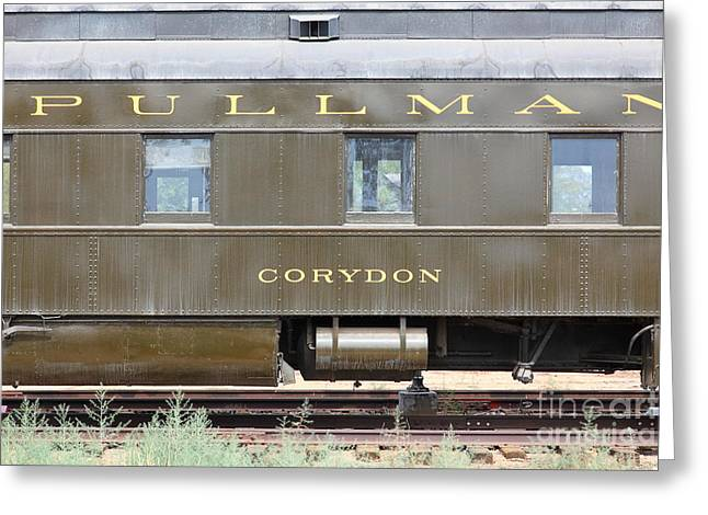 Tanker Train Greeting Cards - Vintage Southern Pacific 2144 Pullman Car Company Corydon Passenger Train 5D28335 Greeting Card by Wingsdomain Art and Photography