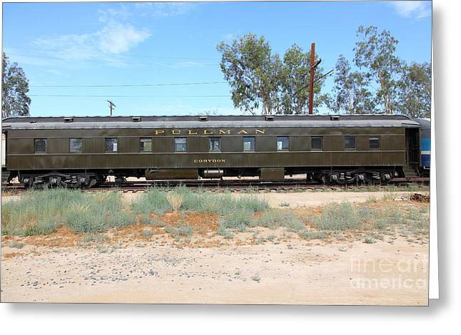 Tanker Train Greeting Cards - Vintage Southern Pacific 2144 Pullman Car Company Passenger Train 5D28332 Greeting Card by Wingsdomain Art and Photography