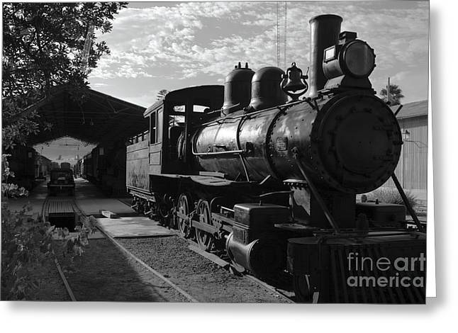 Rail Siding Greeting Cards - Vintage Steam Engine at Tacna Greeting Card by James Brunker