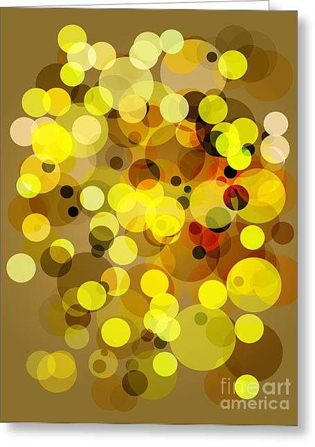 Indian Summer Greeting Cards - Vintage Stylish Circles Greeting Card by Indian Summer