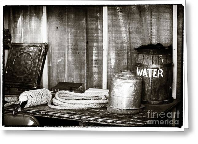 Contemporary Cowboy Gallery Greeting Cards - Vintage Supplies Greeting Card by John Rizzuto