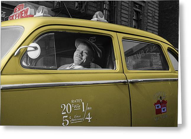 Negro Greeting Cards - Vintage Taxi 5 Greeting Card by Andrew Fare