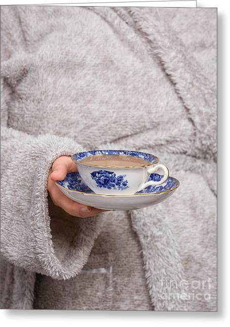 Bathrobe Greeting Cards - Vintage Teacup Greeting Card by Amanda And Christopher Elwell