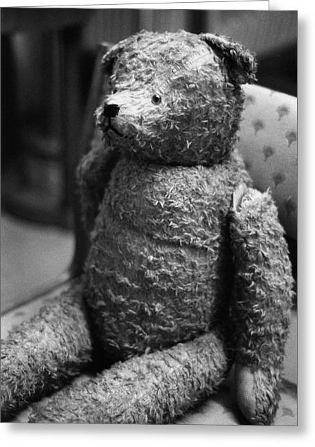 Classic Greeting Cards - Vintage Teddy Greeting Card by Marcio Faustino