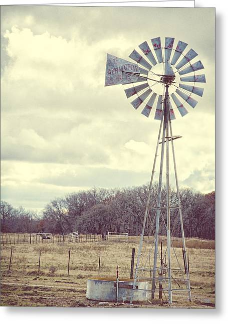 Vintage Texas  Greeting Card by Kimberly Danner