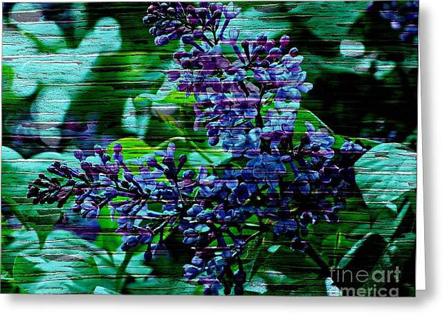 Pinterest Greeting Cards - Vintage Textured Painted Lilac Greeting Card by Judy Palkimas