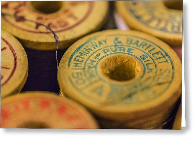 Vintage Thread Greeting Card by Jon Woodhams
