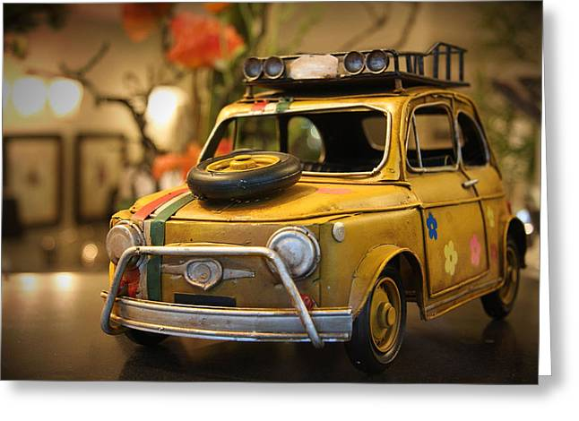 Boy Greeting Cards - Vintage Toy Car 2 Greeting Card by Marvin Blaine