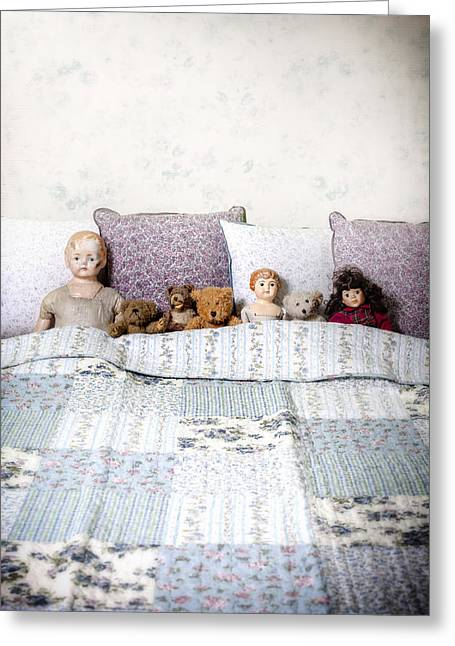 Cushion Photographs Greeting Cards - Vintage Toys Greeting Card by Joana Kruse