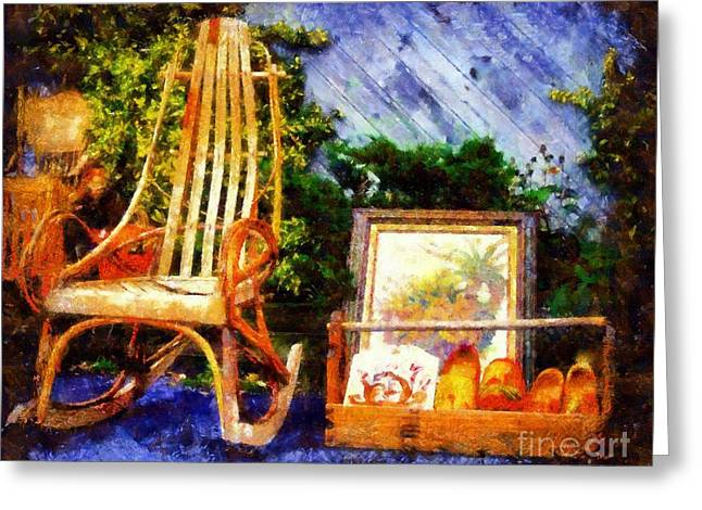 Worn In Greeting Cards - Vintage Treasures Milford Greeting Card by Janine Riley