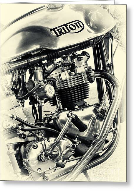 Split-tone Greeting Cards - Vintage Triton Greeting Card by Tim Gainey