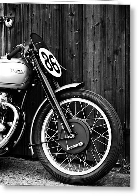 Grand Prix Greeting Cards - Vintage Triumph Grand Prix Greeting Card by Mark Rogan