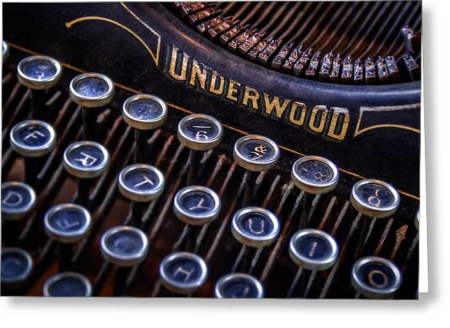 Keyboard Photographs Greeting Cards - Vintage Typewriter 2 Greeting Card by Scott Norris