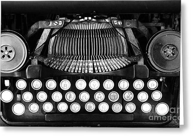 Typewriter Greeting Cards - Vintage Typewriter Wall Art Greeting Card by Anahi DeCanio