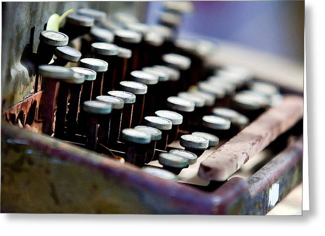 vintage Typewriter Greeting Card by Art Block Collections