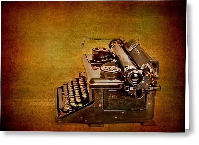 Typewriter Greeting Cards - Vintage Typewriter Greeting Card by David and Carol Kelly