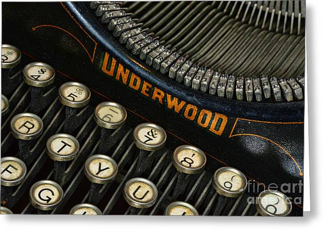 Reporter Greeting Cards - Vintage Typewriter Greeting Card by Paul Ward