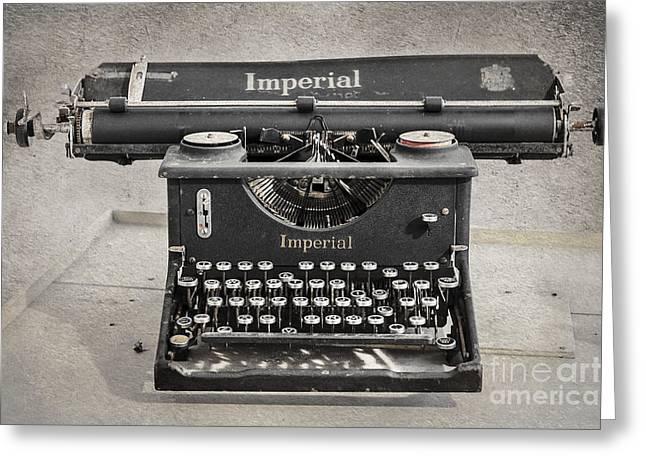Antique Typewriter Greeting Cards - Vintage Typewriter Greeting Card by Svetlana Sewell