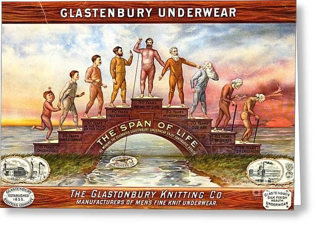 Vintage Underwear Ad 1899 Greeting Card by Padre Art