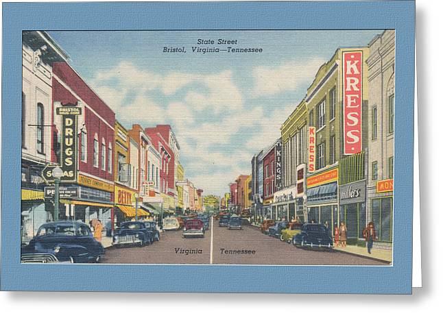 Vintage Va Tn Postcard Kress  Greeting Card by Denise Beverly