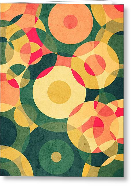 Pattern Greeting Cards - Vintage Vacation Greeting Card by VessDSign