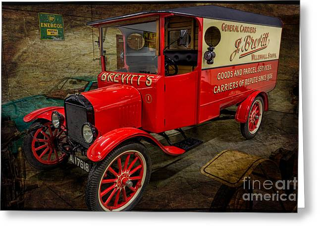 Oil Lamp Greeting Cards - Vintage Van Greeting Card by Adrian Evans