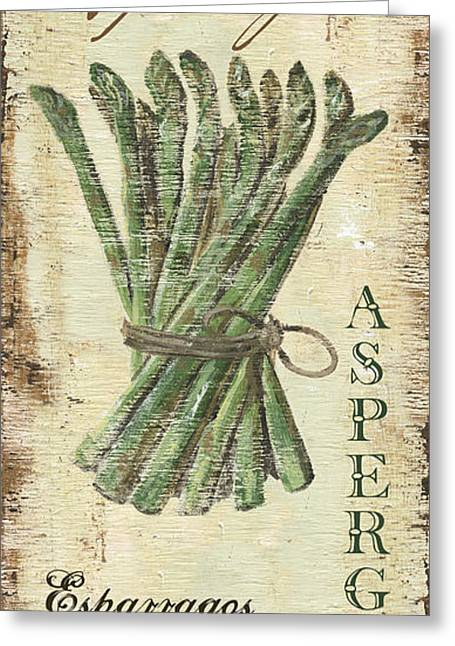 Kitchen Greeting Cards - Vintage Vegetables 1 Greeting Card by Debbie DeWitt
