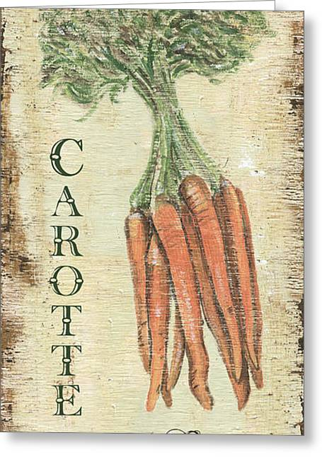 Kitchen Greeting Cards - Vintage Vegetables 4 Greeting Card by Debbie DeWitt