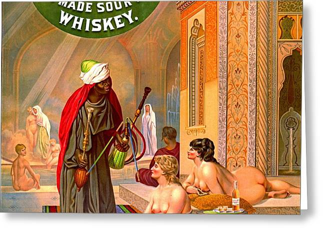 Vintage Whiskey Ad 1883 Greeting Card by Padre Art