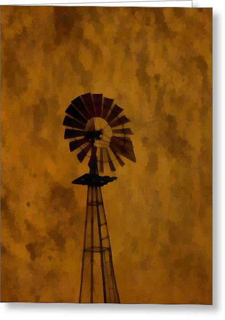 Vintage Windmill  Greeting Card by Dan Sproul