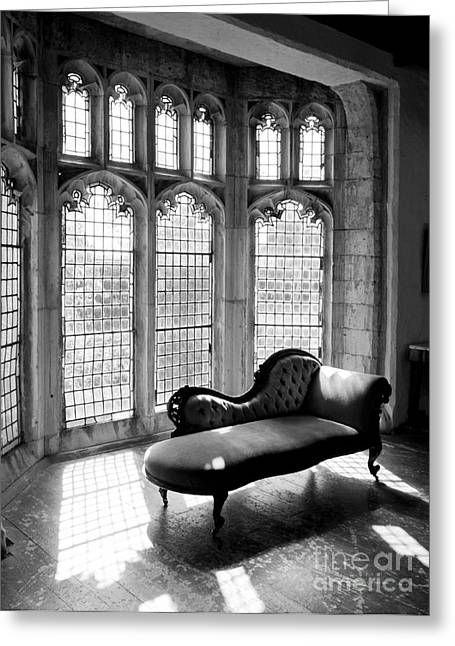 Chaise-lounge Digital Art Greeting Cards - Vintage Window Greeting Card by Serene Maisey