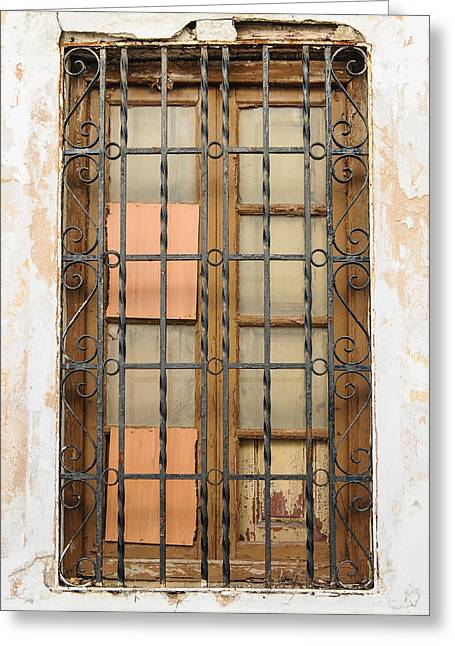 Tetyana Kokhanets Greeting Cards - Vintage Window Greeting Card by Tetyana Kokhanets
