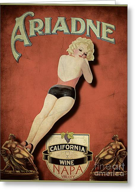 Vintage Wine Ad II Greeting Card by Cinema Photography