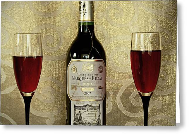 Vintage Wine Lovers Greeting Card by Inspired Nature Photography By Shelley Myke