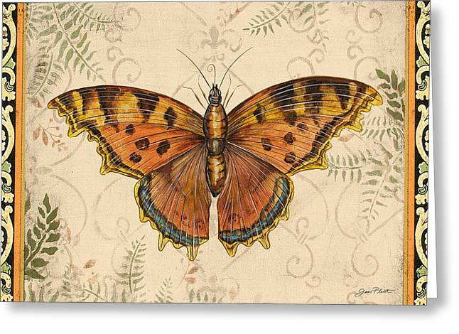 Butterfly Greeting Cards - Vintage Wings-D Greeting Card by Jean Plout