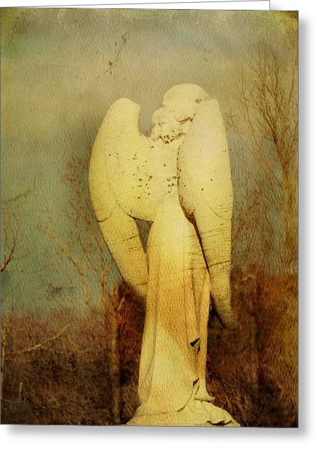 Altered Architecture Greeting Cards - Vintage Wings Greeting Card by Gothicolors Donna Snyder
