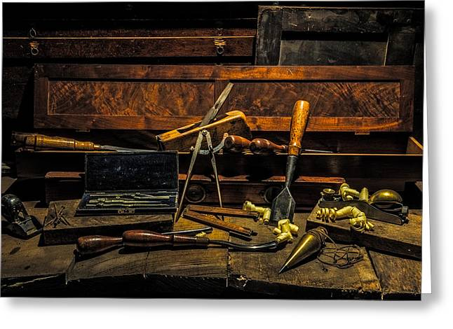 """""""still Life Photographs"""" Greeting Cards - Vintage Woodworking Tools Greeting Card by Paul Freidlund"""