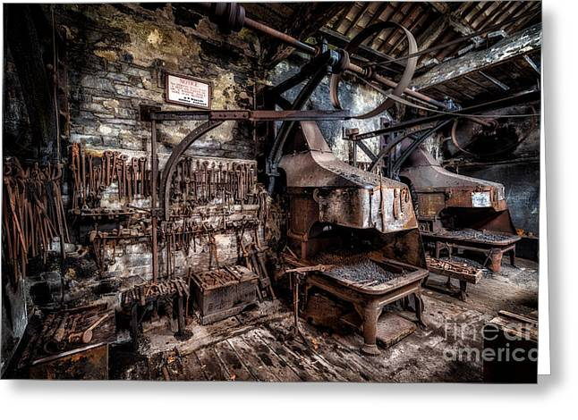 Dilapidated Digital Art Greeting Cards - Vintage Workshop Greeting Card by Adrian Evans