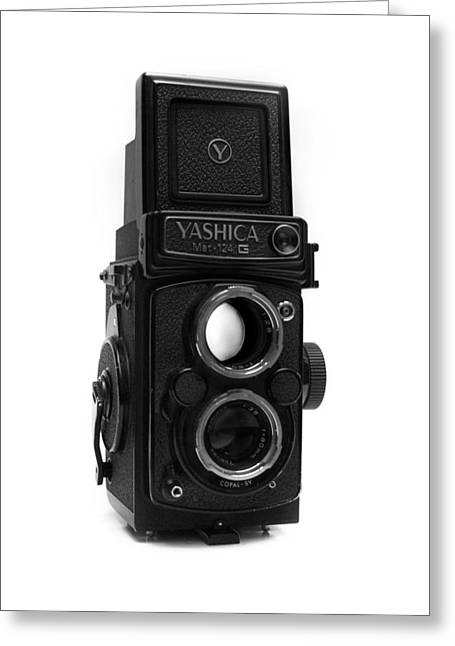 Reflex Greeting Cards - Vintage Yashica Medium Format TLR Greeting Card by Nathan Abbott