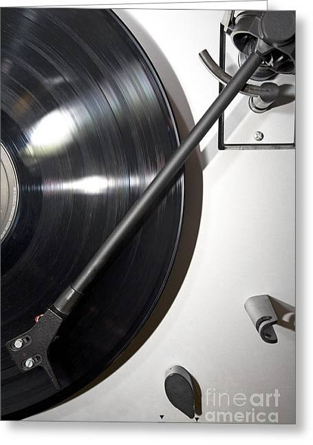 Acoustical Photographs Greeting Cards - Vinyl 1 Greeting Card by Ladi  Kirn